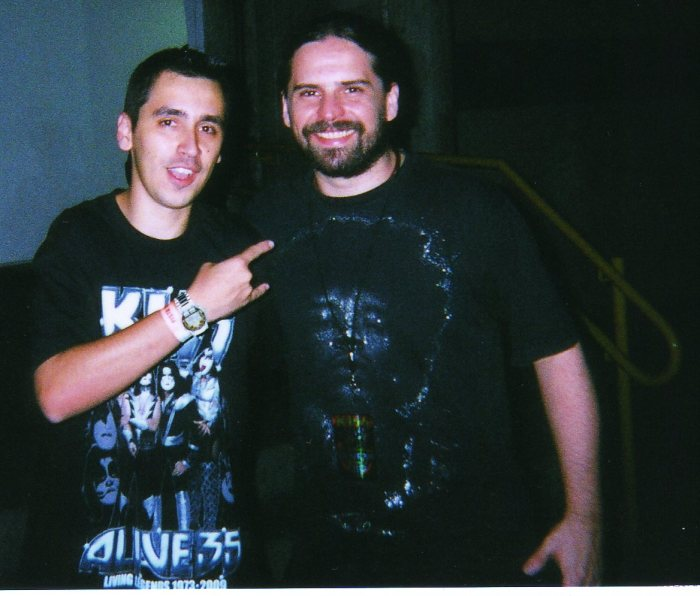 Eu e o Andreas Kisser, do Sepultura