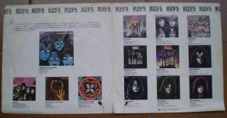 Dentro do encarte brasileiro da época - os discos em catálogo