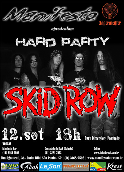 Skid Row no Manifesto Rock Bar