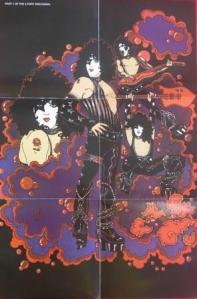 O Poster da edição cd remaster que compõe o mural, juntamente com os outros álbuns solo.