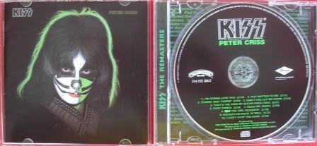 Na capa de edição remaster de Peter Criss mantem se o padrão dos outros solos, só que com a cor verde.