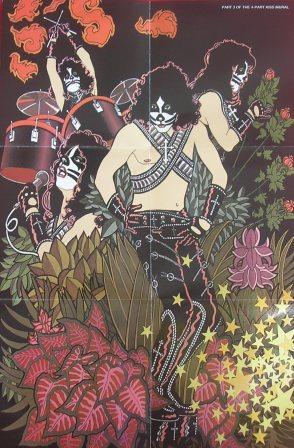 A poster de Peter Criss na edição remaster (cd)