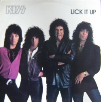 Lick It Up  - A capa do vinil da edição brasileira