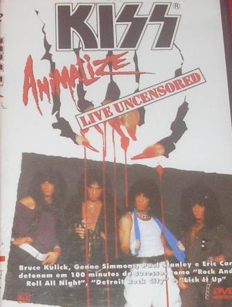O Dvd brasileiro - Animalize Live Uncensored - uma excelente performance.