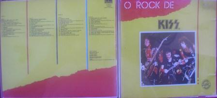 O Rock de Kiss numa versão em Cdr, imitando a original lançada em vinil