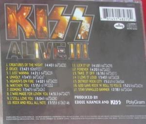 A contracapa do álbum e a lista das músicas.