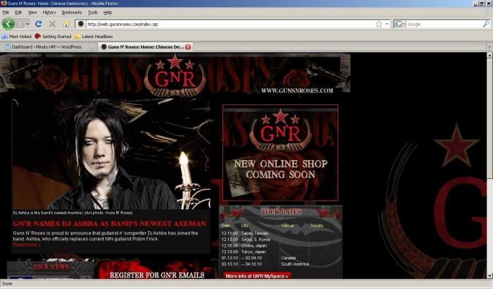 Site oficial do Guns - 26/nov/2009