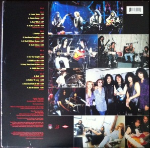 ** A contracapa da nossa versão em vinil de MTV Unplugged: Kiss