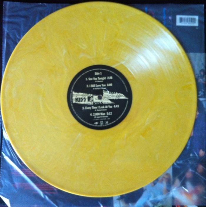 ** Vinil Amarelo Mármore da nossa edição de MTV Unplugged: Kiss