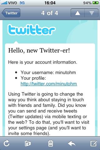 Boas vindas ao Twitter - @minutohm