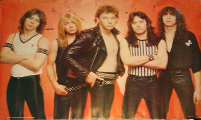 Clive, Murray, Di'Anno, Harris e Stratton: o Maiden em 1980