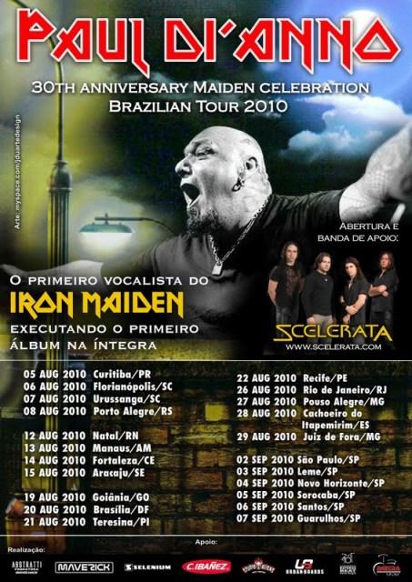 Eterno Paul Di'anno... novamente no Brasil!