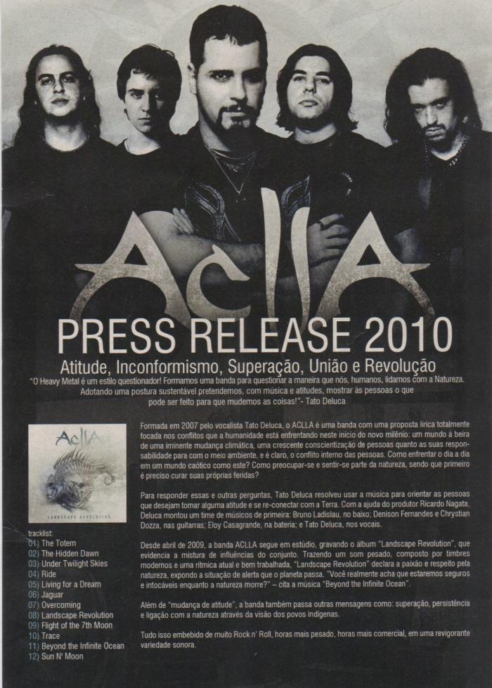 Press Release: um resumo sobre a missão da banda