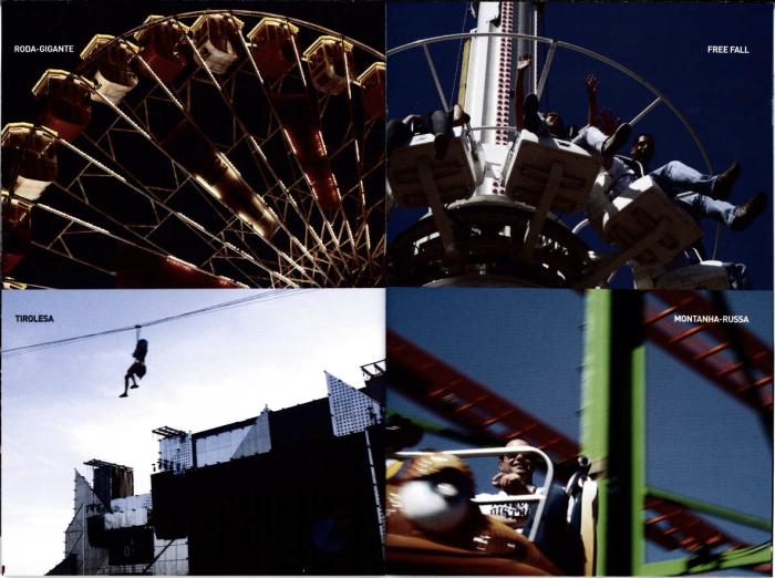"""Rock in Rio IV (2011) - mock-up das futuras """"atrações"""" que a Cidade do Rock terá. Espero apenas que o povo não atire nada no pessoal da tirolesa (momento lembrança do show do Kiss de 1999, em Interlagos)"""