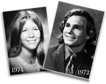 Mike e sua futura esposa, Sue Hendry (da classe de escola AHS em 1974) - matrimônio ocorreu em 1981, após Sue pedir Anthony em casamento, em um drive-thru de um Mc Donalds...