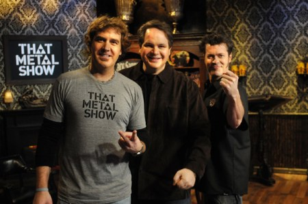 Da esquerda para direita: Jim Florentine, Eddie Trunk e Don Jamieson.