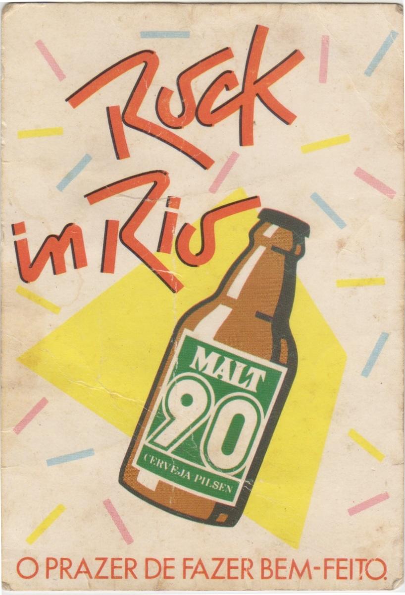 Rock in Rio 1 (1985): o ingresso e um pouco do evento