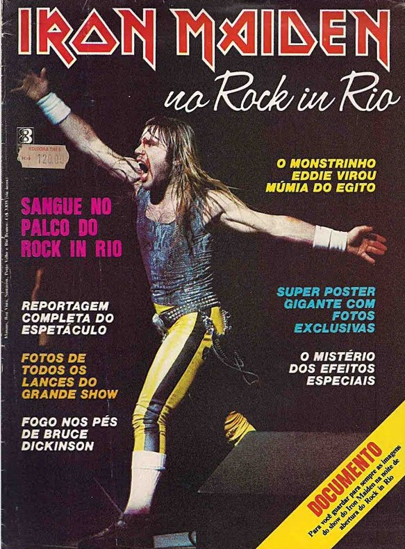iron maiden revista rock in rio 1985