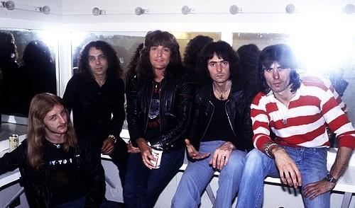 Uma foto no camarim, nesta fantástica formação do Rainbow, em 1978