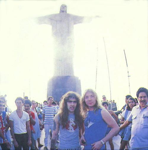 Steve e Dave visitando o ponto turístico mais famoso da América do Sul