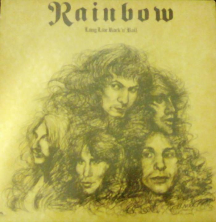 A capa do vinil brasileiro de Long Live Rock 'n' Roll