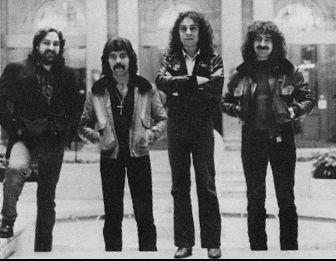 A banda com Dio e Bill Ward - uma formação que nunca mais se repetiu