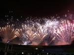 Encerramento do festival com fogos de artifício atrás da arquibancada - e a atitude sustentável?