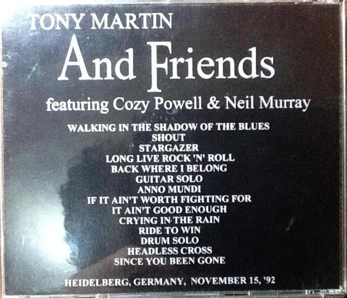 Contra-capa do bootleg Tony Martin And Friends
