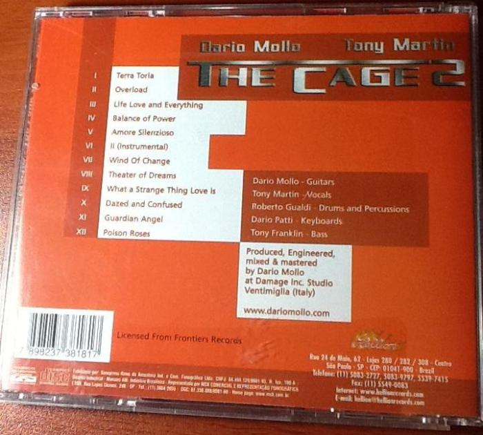 Contra-capa e tracklist