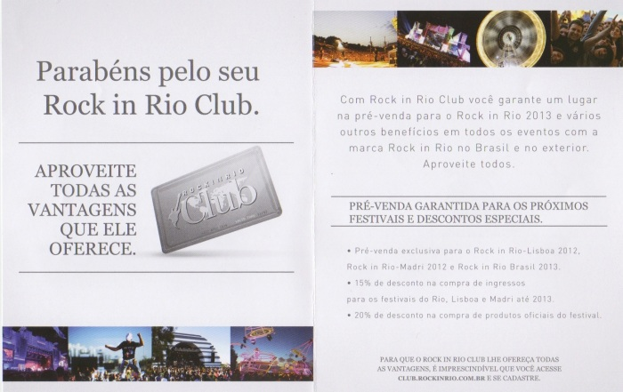 O encarte do RiR Club