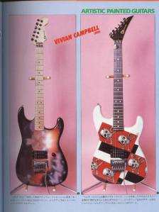 As novas guitarras de Vivian Campbell com a influência do estilo L.A.