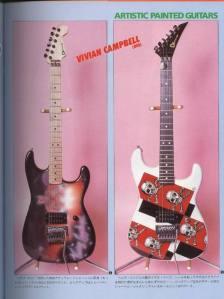 As novas guitarras de Vivian Campbell com a influência do estilo L.A.