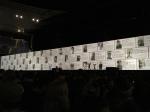 As fotos dos homenageados, exibidas durante os 20 minutos de intervalo entre os atos