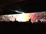 Um dos milhares de efeitos do muro, com clara sensação de profundidade e perspectiva. Um dos mais bonitos da noite