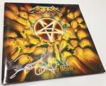 Capa do CD Worship Music autografado pelo Scott Ian na tarde do dia do show - agradecimentos especiais ao Edu do Lokaos Rock Show