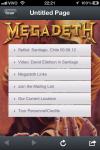 """O QR code aponta para este hotsite da banda """"on tour"""" – realmente bem legal e que demonstra a preocupação do Megadeth em sem atualizar tecnologicamente, como outras grandes bandas vem fazendo..."""