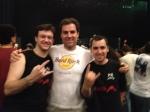 O trio do Minuto HM nesta noite: Marcus, Rolf e Eduardo