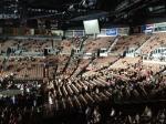 A arena, ainda vazia