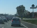 O pesado trânsito californiano no horário de pico