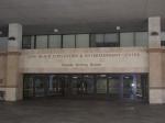 A entrada para o centro de convenções