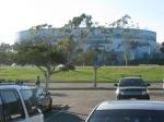 Visão da arena do estacionamento da Marina