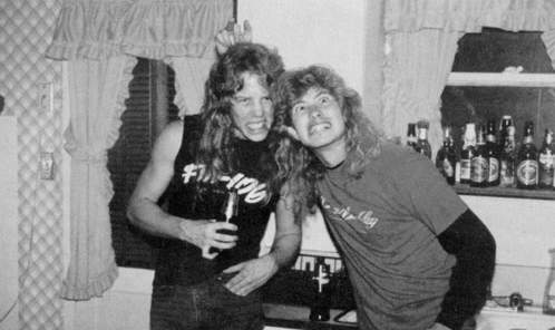 Hetfield e Mustaine