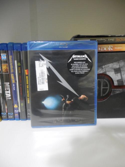 Blu-ray do Quebec Magnetic - Metallica, adquirido por US$ 14,99 no Best Buy (imagem: acervo pessoal)