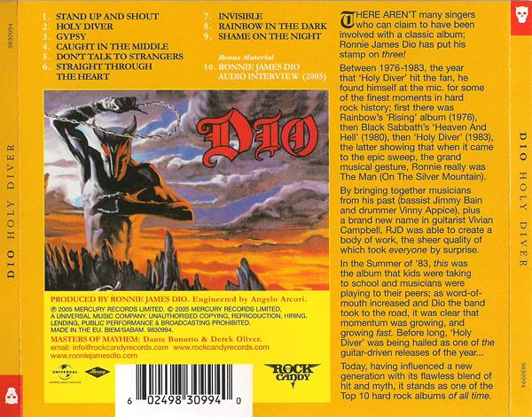 A Edição Especial de 2005 de Holy Diver