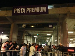 A entrada da Pista Premium