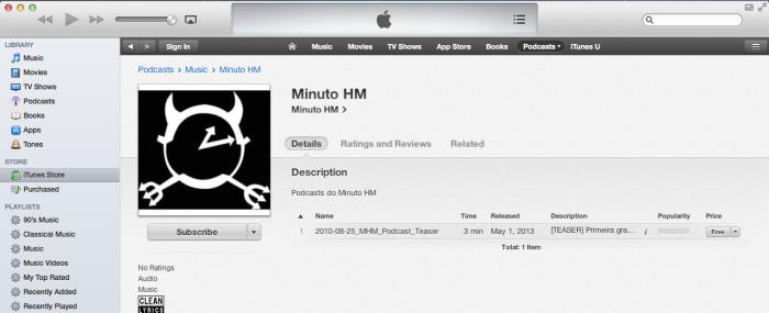 Minuto HM no iTunes!