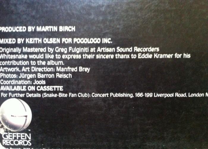 A mixagem posterior de Keith Olsen (versão EUA)