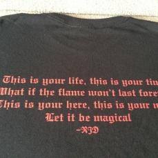 Camiseta oficial Dio Disciples - verso