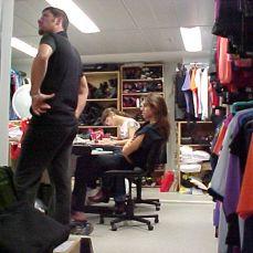Um dos dressing rooms