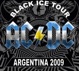 Banner da Black ice Tour customizado para a Argentina